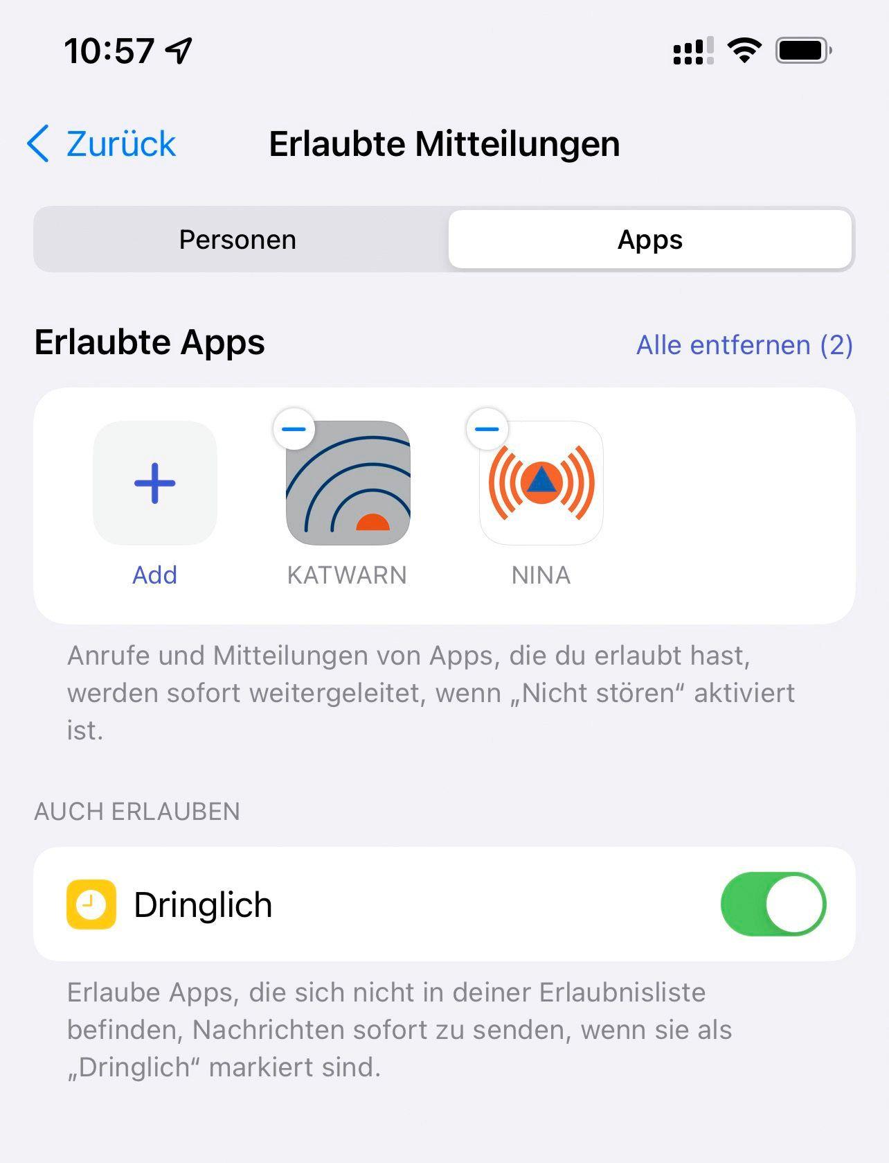 Nicht stören / iOS 15