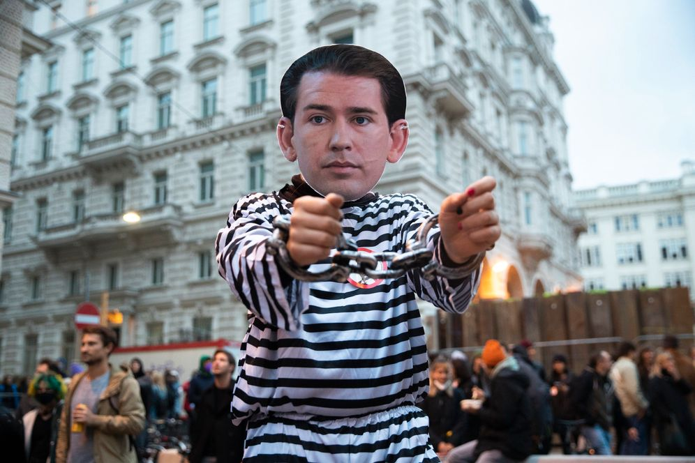 An anti-Kurz protest in Vienna late last week