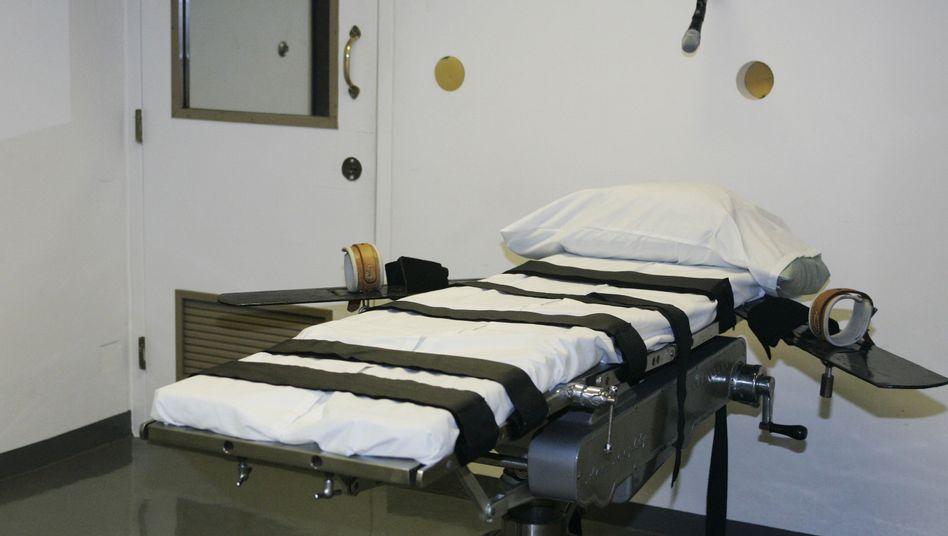 Tod als Strafe: Ein Hinrichtungsraum im US-Bundesstaat Oklahoma