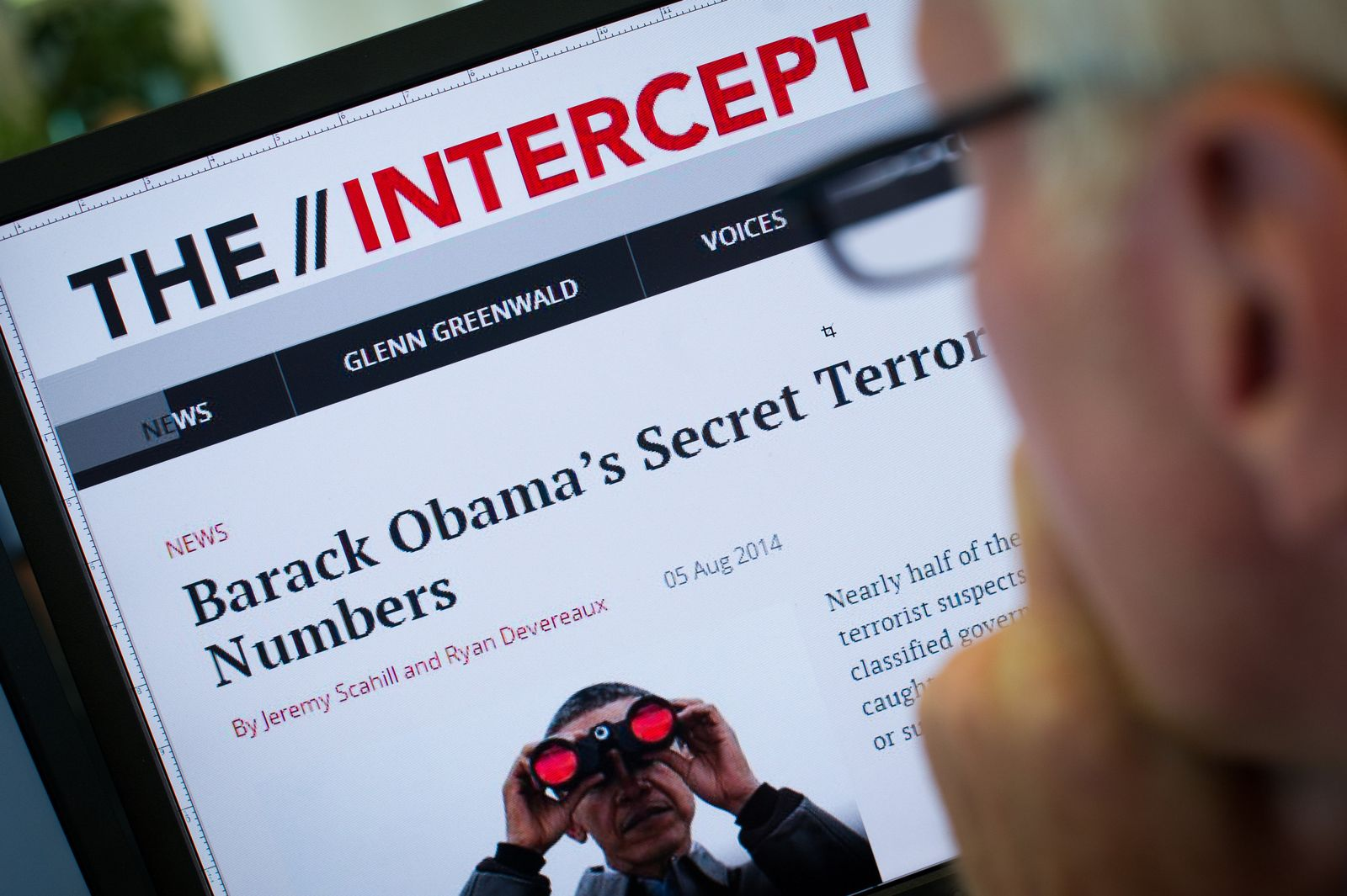 "Webseite ""The Intercept"""