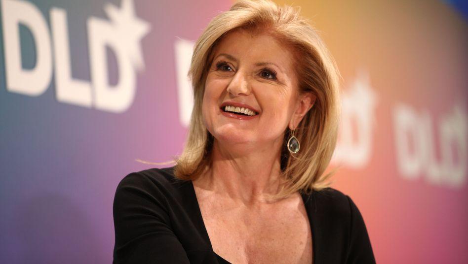 """Arianna Huffington (beim DLD-Kongress in München): """"Leidenschaften ansprechen"""""""