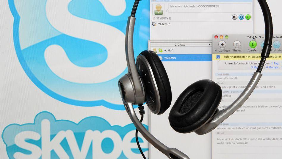 Kommunikation per Skype: Besuch aus Redmond