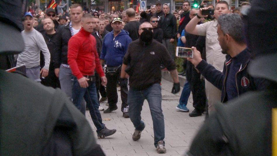 Rechte Demonstranten in Chemnitz