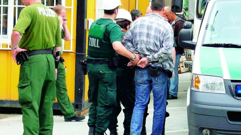 Razzia auf dem Bau der Deutschen Börse: Kriminelles Karussell