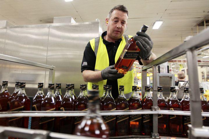 Produktion bei Johnnie Walker in Glasgow: Scotch Whisky Bestseller