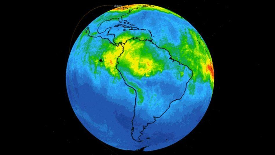"""Simulation mit Daten des Nasa-Forschungssatelliten """"Aqua"""""""