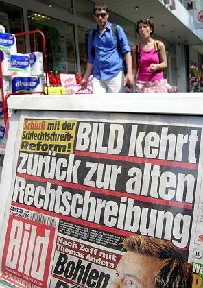 """""""Bild""""-Zeitung (im August 2004): Ein Vorschlag, den Springer nur ablehnen kann"""