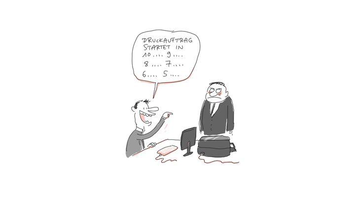 Cartoons zum Büroleben: Schlümm-schlümm, diese Kollegen