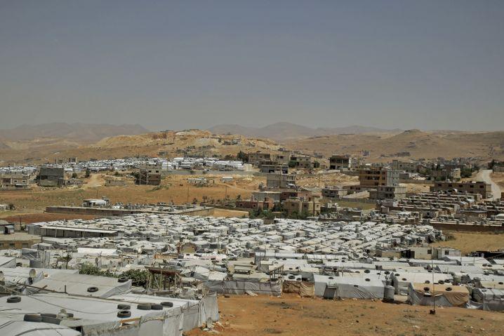 Das Flüchtlingslager in der ostlibanesischen Stadt Arsal