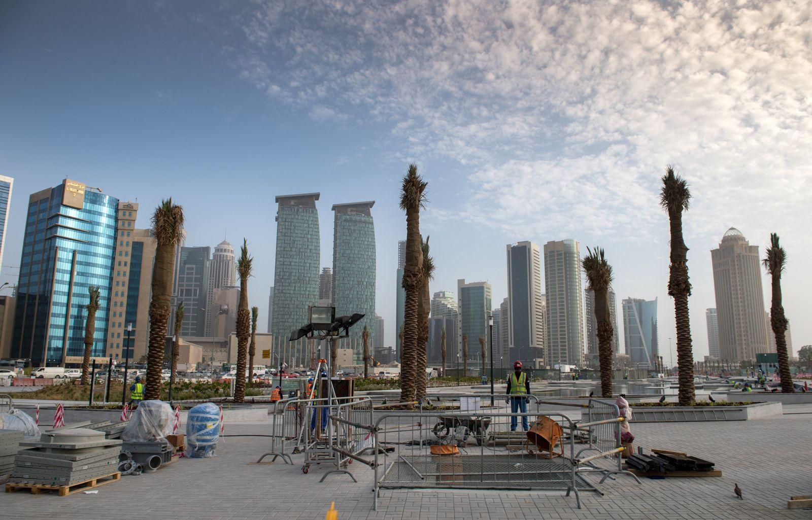 Baustellen in Doha