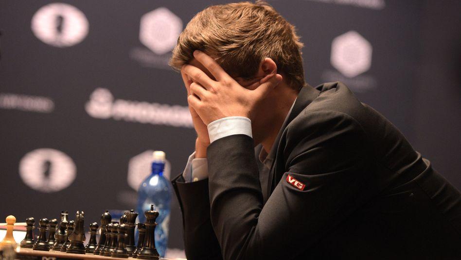 Großmeister Magnus Carlsen bei der Weltmeisterschaft 2016