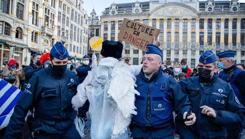 Demonstration in Brüssel gegen Coronamaßnahmen (Archivbild)