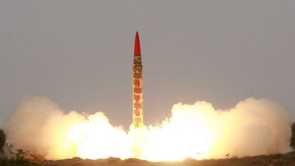 """Pakistan's Shaheen-1 ballistic missile: """"Just five years ago, 40 countries had weapons-usable nuclear materials. Now there are only 28 left."""""""