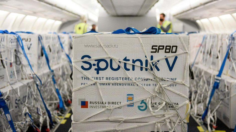 Lieferung mit Sputnik V: 61 Länder haben den Impfstoff bereits zugelassen