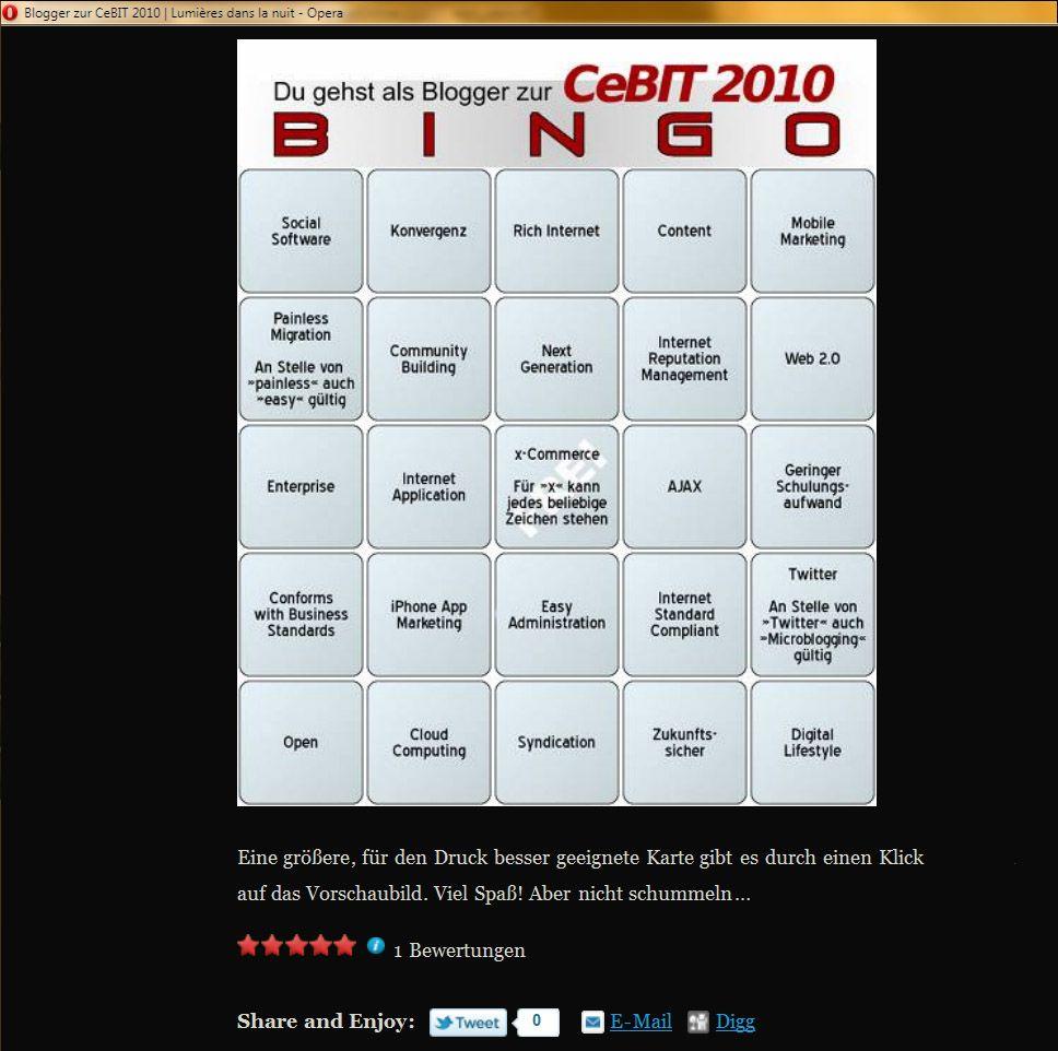 Screenshot Cebit Bingo