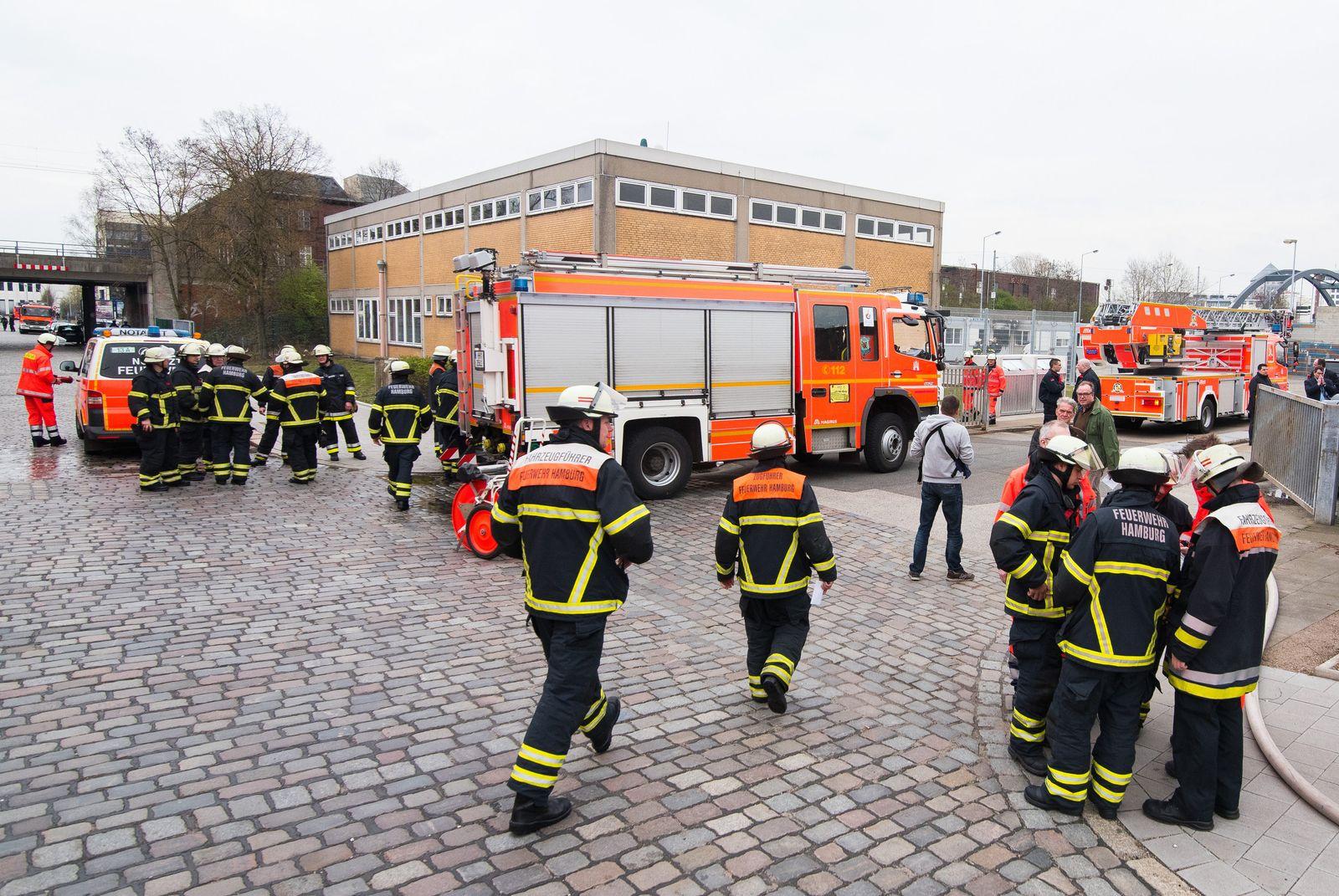 Feuer in Flüchtlingsunterkunft Hamburg