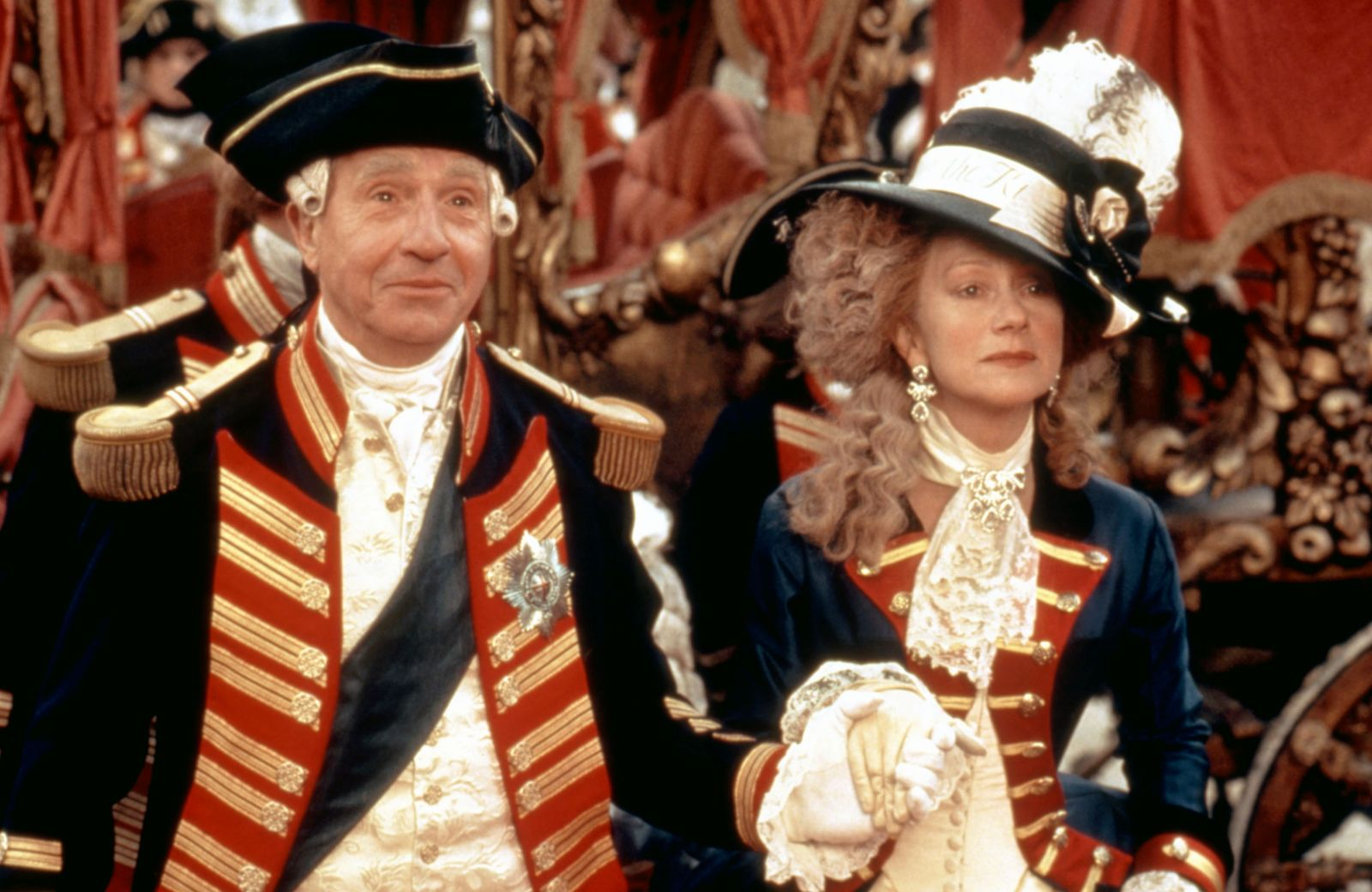 THE MADNESS OF KING GEORGE, Nigel Hawthorne, Helen Mirren, 1994, (c)Samuel Goldwyn Films/courtesy Ev