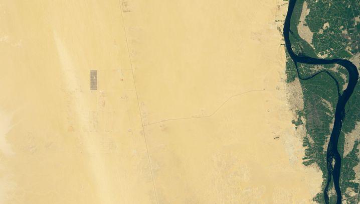 Baugebiet am 16. Juni 2018 (links) und am 9. Oktober 2019
