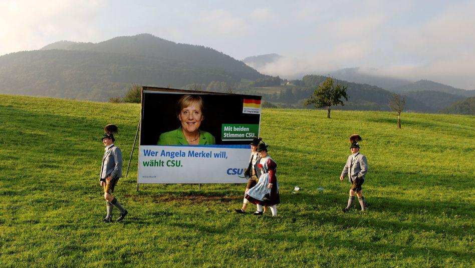 Merkel-Plakat der CSU aus dem Jahr 2009