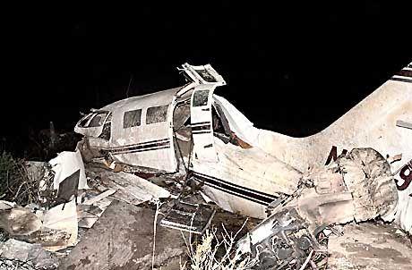 Todesfalle: Die Cessna nach dem Absturz