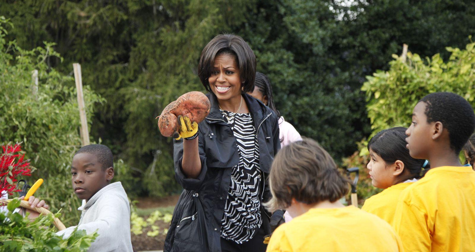 Michelle Obama/ Ernte/ Garten