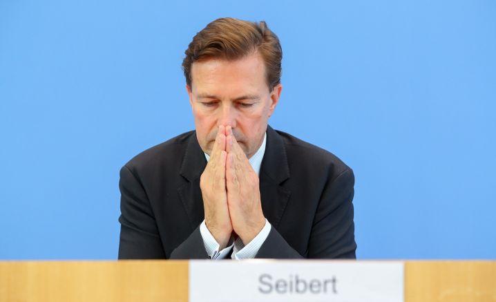 Steffen Seibert am Freitag in der Bundespressekonferenz