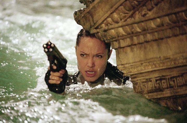 """Szene aus """"Tomb Raider""""-Fortsetzung mit Angelina Jolie (2003): Erst Dreh, dann Tourismus-Boom auf Santorin"""