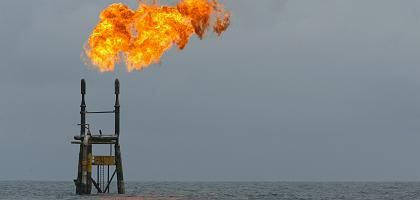 """A Total oil platform off the coast of Angola: """"Oil production will be technically complex in the future, which makes it expensive."""""""