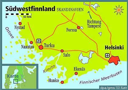 Der Südwesten Finnlands: Keine Mücken und fast immer Sonne
