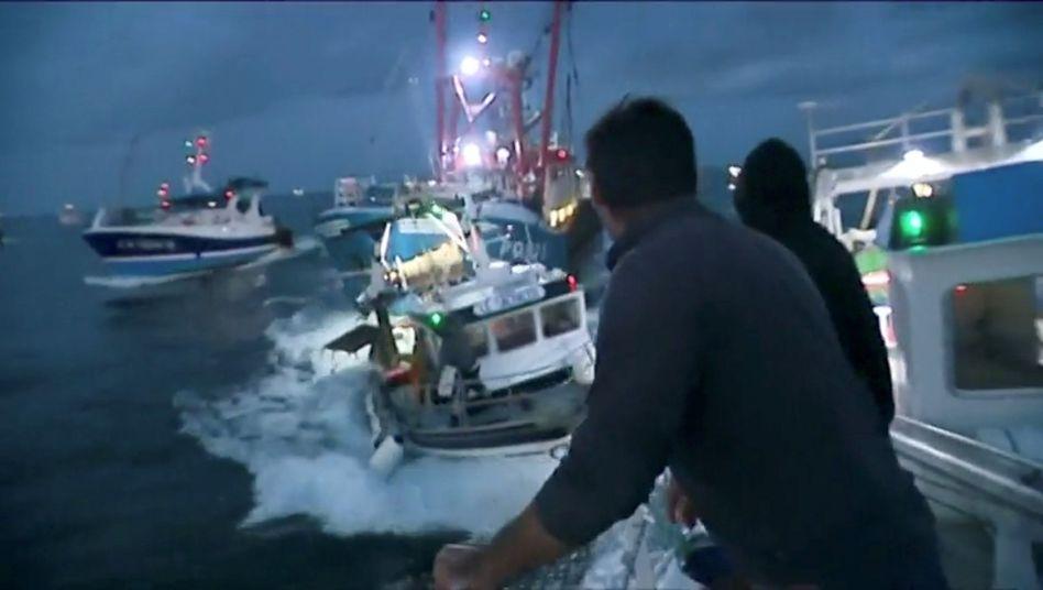Zusammenstoß zwischen französischen und britischen Fischern im Ärmelkanal