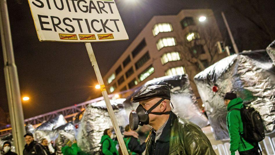 Demonstration gegen die Feinstaubbelastung in Stuttgart (Archiv)