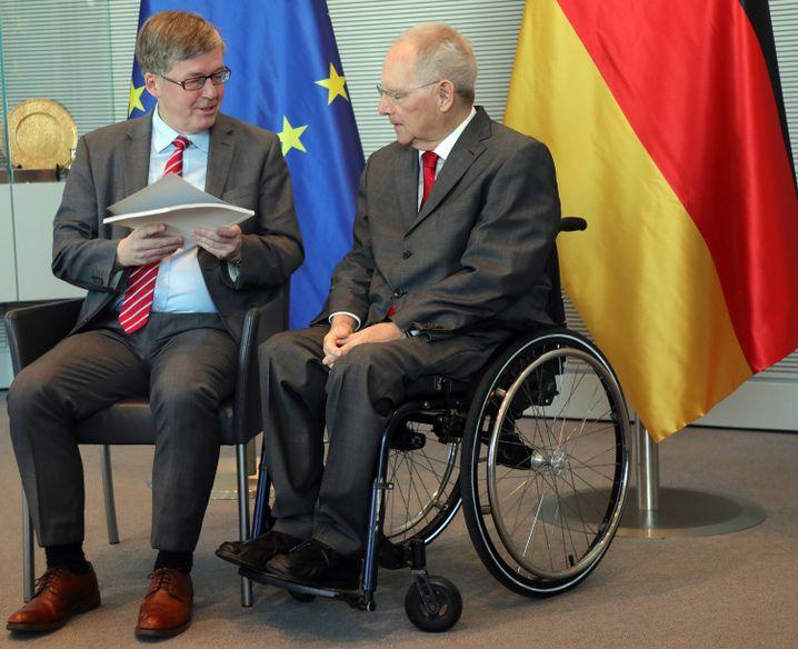 Bartels mit Bundestagspräsident Wolfgang Schäuble