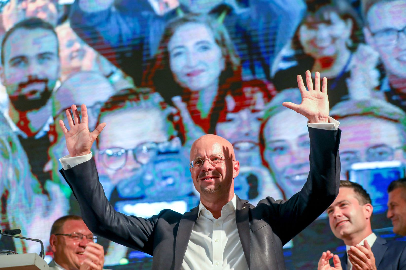Regional elections in Brandenburg 2019, Werder, Germany - 01 Sep 2019