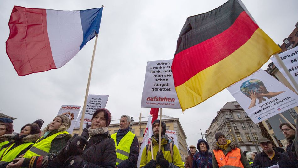 Demonstranten in der Münchner Innenstadt
