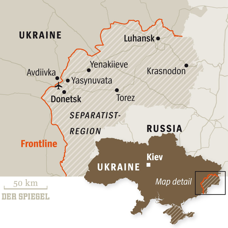 ENGLISH VERSION GRAFIK DER SPIEGEL 45/2015 Seite 102 - Ausland - Die Alleingelassenen - Ukraine