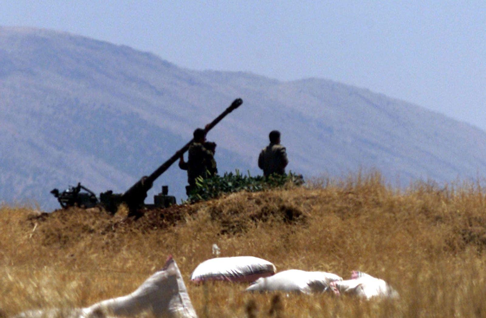syrien lebanon grenze geschütz