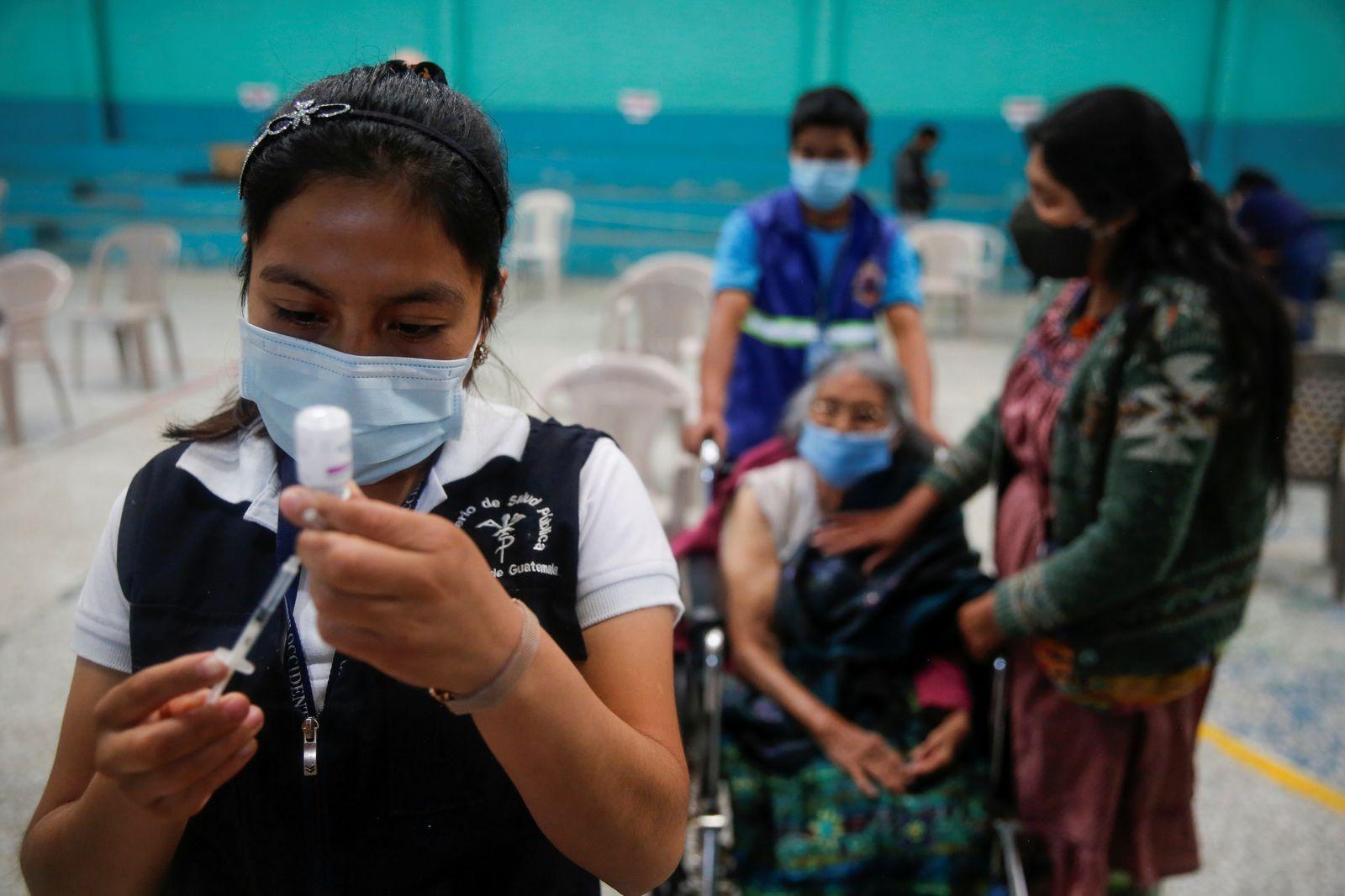The spread of the coronavirus disease (COVID-19) in San Pedro Sacatepequez