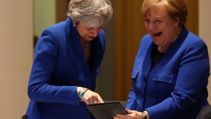 Brexit-Gipfel: Was gibt's denn da zu kichern?