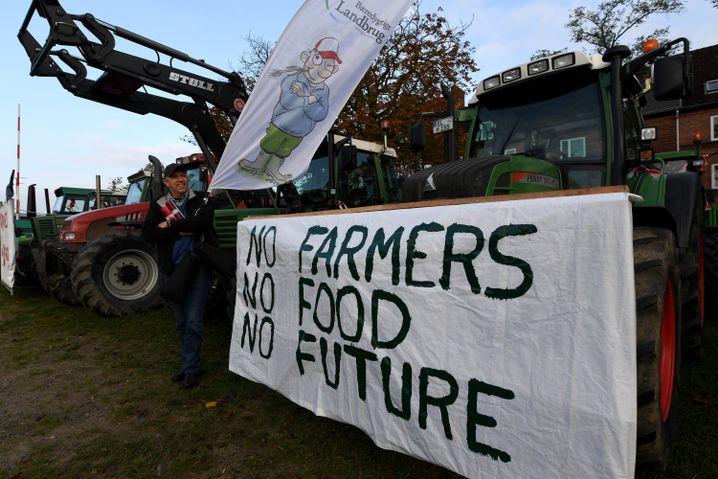 Bauernprotest in Rendsburg, Schleswig-Holstein