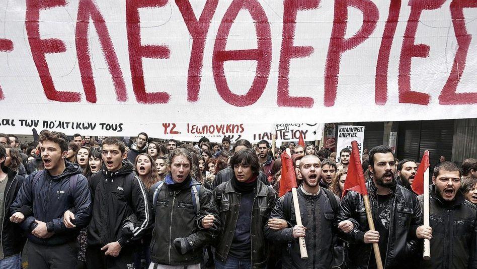 Demonstration gegen Sparpolitik am vergangenen Donnerstag in Athen