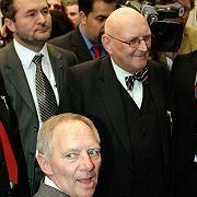 Schäuble, Zentralrats-Chef Köhler: Keine Schönwetterveranstaltung