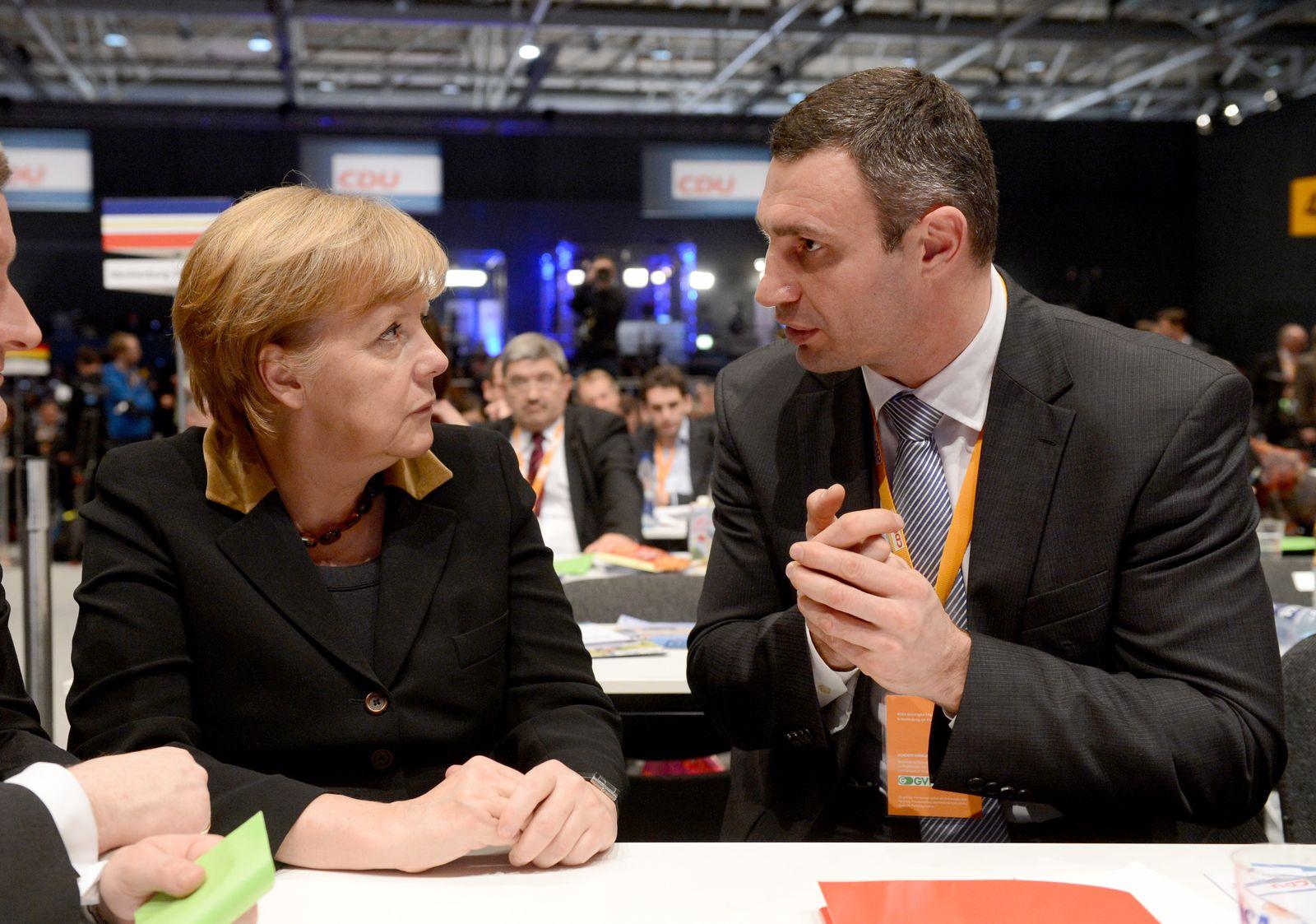 Merkel / Vitali Klitschko