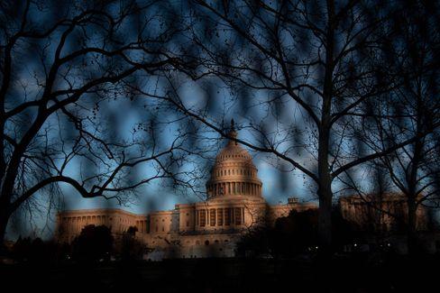 Eingezäuntes Kapitol nach dem Sturm