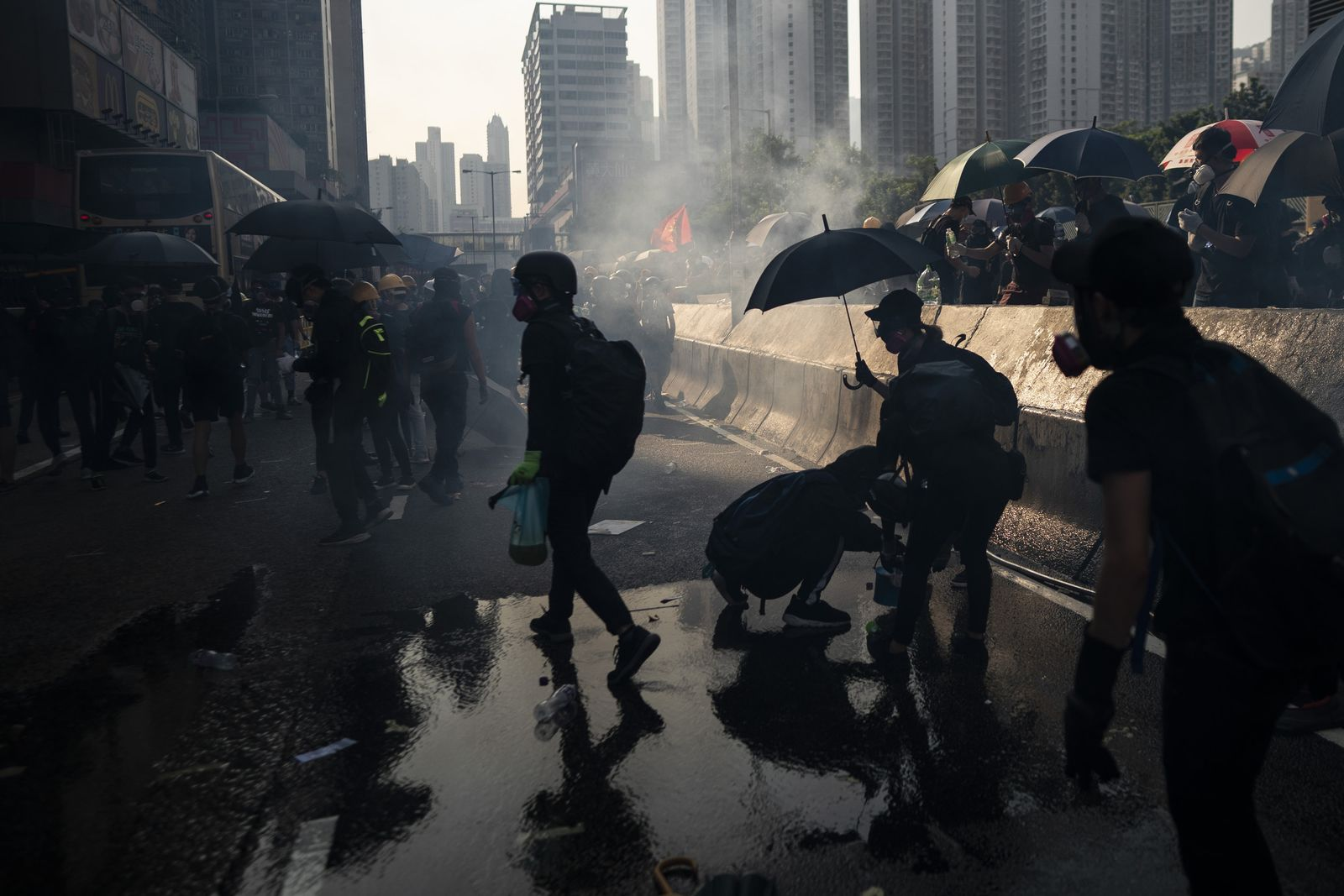 Proteste in Hongkong - 70. Jahrestag der Gründung Chinas