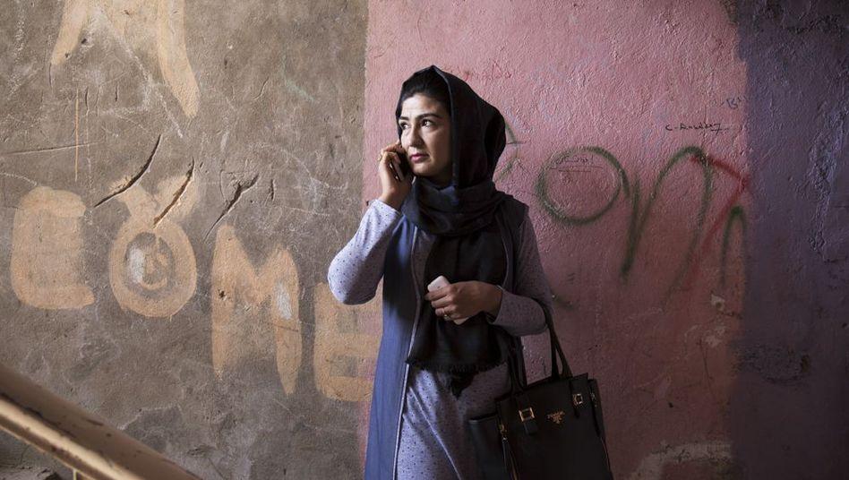 Pariza Rahmani, spokeswoman for the Uprising for Change movement