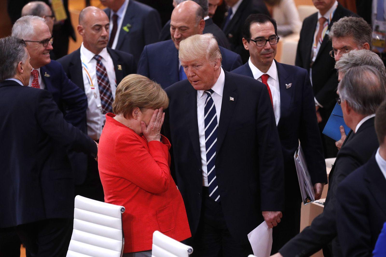 G20/ Messehallen/ Freitag / Trump / Merkel