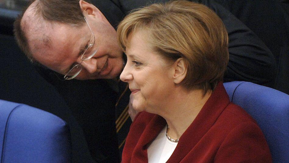 Ein altes Duo: Steinbrück könnte als Vizekanzler wieder Finanzminister werden