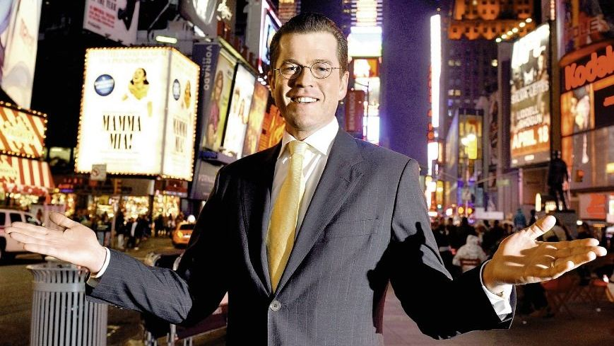 Minister Guttenberg am Times Square in New York 2009: Gutentwickelter Krull-Faktor