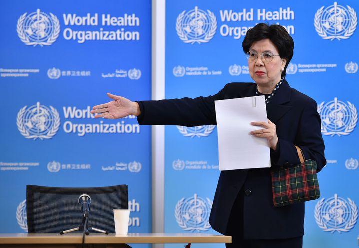 Margaret Chan bei Zika-Pressekonferenz in Genf