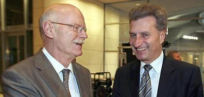 """Kommissionschefs Struck, Oettinger: """"Jetzt kommt doch mal"""""""
